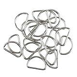 IPOTCH 100 pcs Multifunktionale Metall D Ringe Ungeschweißten Split Vorhang Tieback Dee Schleife Schnalle Haken Ring DIY - Weiß, 25x14x2.8mm