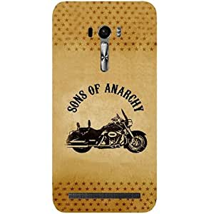 Casotec Rock The Music Pattern Design Hard Back Case Cover for Asus Zenfone Selfie ZD551KL
