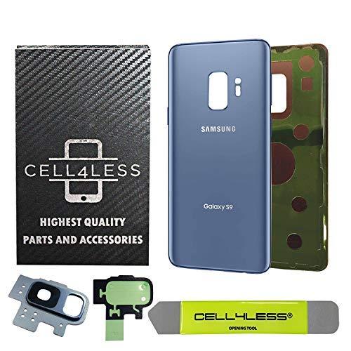 CELL4LESS Ersatz-Akkudeckel für Samsung Galaxy S9 OEM (alle Modelle G960 alle Träger) 2 Logo OEM-Ersatz, blau