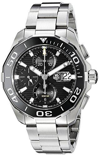 Tag Heuer Aquaracer Homme Bracelet & Boitier Acier Inoxydable Saphire Automatique Montre CAY211A.BA0927