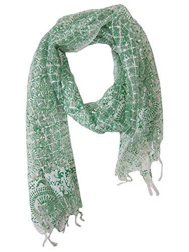 Mogul Interior - Châle - Femme Multicolore - Blanc/vert