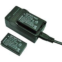 mondpalast@ 2X Reemplazo enel-20 enel20 1020mAh batería + cargador para Nikon 1 J1 J2 J3 S1 Coolpix A Blackmagic Design Pocket Cinema Mft