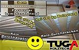 TUGA-Holztech 20mm Rollrost Rolllattenrost 80x190 cm Qualitätsarbeit aus Deutschland unbehandelt frei von Chemie Naturprodukt -