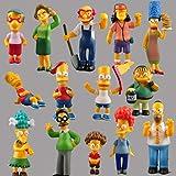 FidgetKute Rare !! 14 pcs Set Lot The Simpsons Toys MINI Doll Action Figures no box Gift