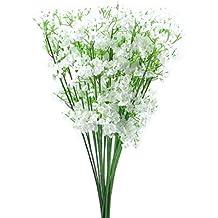 Sanysis - 66 cabezas Gypsophila de flores artificiales hortensias, color blanco