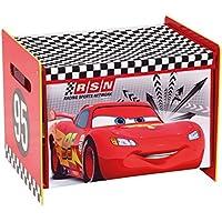 Preisvergleich für Unbekannt Disney Cars Lightning McQueen Toy Box Spielzeugkiste Aufbewahrung Kinderzimmer Spielzeug Holz +Canvas