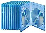 Unbekannt PEARL Leerhüllen: Blu-ray Soft-Hüllen blau-transparent im 10er-Pack für je 2 Discs (Blurayhüllen)