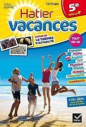 Cahier de vacances de la 5e vers la 4e - Hatier Vacances: Révisions toutes matières