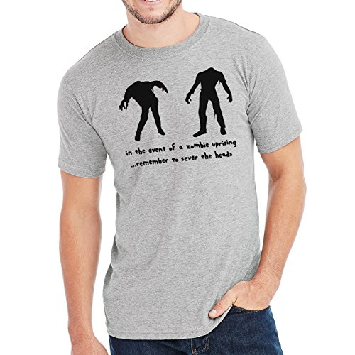 In The Event Of Zombie Uprising Herren T-Shirt Grau