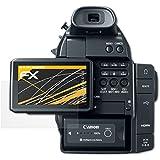 3 x atFoliX Película Protectora Canon EOS C100 Lámina Protectora de Pantalla - FX-Antireflex anti-reflectante