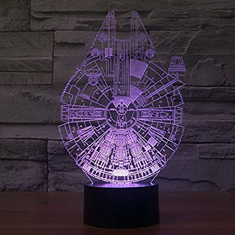 OBQ 3d illusione ottica Millennium Falcon Lighting – Decorazione