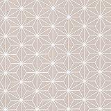 HIGGS & Sashiko - Pastell beige - 100% Baumwolle Stoff japanisch geometrisch Steppen Handarbeiten - Beige, metre