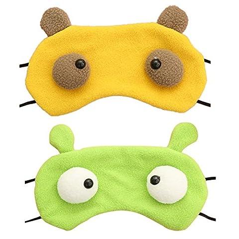 2 PCS Tierisches Auge Blinkers zum Blockieren Licht geht in EyesHigh Qualität Schlaf Farbe (Kühle Superheld Kostüme)