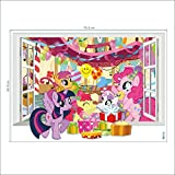 2017 Mein kleiner Pony entfernbarer Vinylwand-Aufkleber-Wandabziehbild-Kunst-Ausgangsdekoration 50 * 70cm  Von Donass®