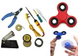 #7: pke 7 in 1 soldering Iron tool kit with free Tester and Spinner Toy, Colourful - Best Quality Product