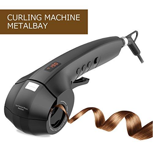 Lockenstab Lockenwickler, METALBAY Curling Machine Automatische Lockenstyler Curling Iron mit...