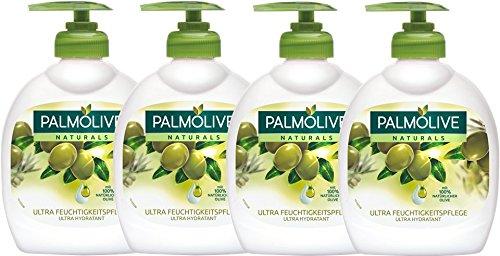 Palmolive Flüssigseife Olivenmilch, 4er Pack (4 x 300 ml)