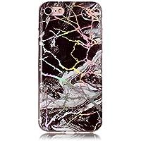 Neo Silikon Hülle [Scratch-Resistant],Kreativ Niedliche Bling Glitter Marble Silikon Schutzhülle/Cover Soft Ultra Dünn Crystal Clear Kirstall Gel TPU Protective back für iPhone 8 iPhone 7
