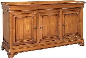 Buffet merisier massif 3 portes 3 tiroirs