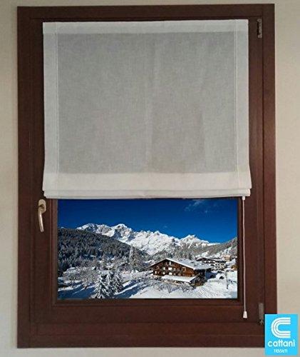 mauro Tende A Pacchetto CONFEZIONATE per Finestra E Porta Finestra - CONFEZIONATE su Misura - Larghezza cm 40-45-50-60-65-70-80-85-90 (55x225 cm)