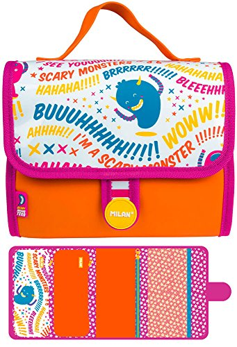 Estuche Milan Scary Monsters II Multipencilcase 19 Piezas