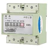 220 V 10 (40) A Contatore elettrico digitale monofase 2 KWh elettronico a 4 vie DIN-Rail