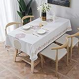 ESSORT Furnily Rechteck Dekoration Tischdecke PVC wasserdicht elegante Tischdecke mit Mehrere Muster Staubdichte waschbare Küchentischabdeckung für Speisetisch Hexagon 137x275cm