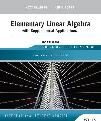 PDF] Full Elementary Linear Algebra with Supplemental Applications