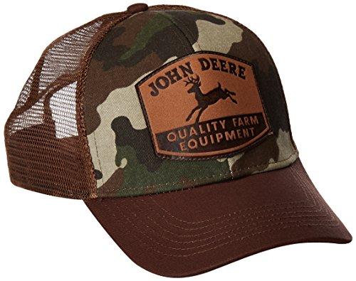 John Deere Men's Camo and Mesh Suede Patch - Mesh-suede Cap