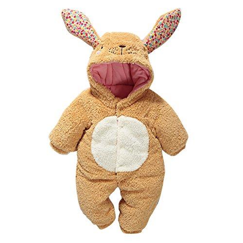 Unisex Baby Overall Mit Kapuze Mädchen Jungen Winter Strampler Warm Strampelanzug Fleece Kinderkleidung Kleidungsset Juleya 3-6 Monate