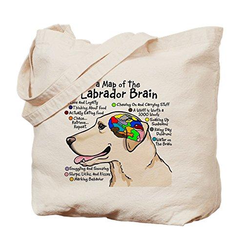 CafePress–Gelb Lab Brain–Leinwand Natur Tasche, Reinigungstuch Einkaufstasche, canvas, khaki, S