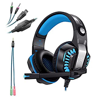 ANRIS KOTION EACH G2000 Upgrade Over-ear Gaming Headset for PC Gamer Computer Tablet PS4 X-box1 Gaming Headphone with Mic LED 3.5mm