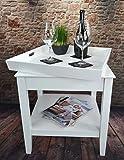 Livitat® Tabletttisch 50 x 50 cm Beistelltisch Tablett Couchtisch Landhaus LV4050