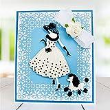 Coupe Métal Dies, femme fille gaufrage Pochoir DIY Scrapbooking Photo modèles pour un album d'embossage Cartes décoratifs Craft pour la Saint Valentin Anniversaire N°4...