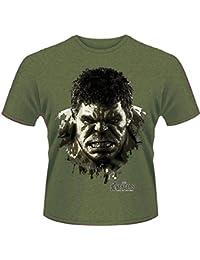 Plastic Head Avengers Age Of Ultron Hulk Face - T-shirt - Homme