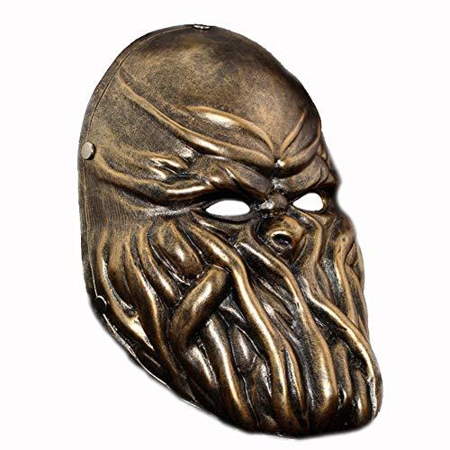 LIULINAN Halloween-Maske Beängstigend Gruselig Alien Resin Maske Form Halloween Rollenspiel Octopus Maske,Bronze (Sehr Beängstigend Masken)