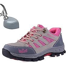 SUADEEX Mujer Hombre Zapatillas de Seguridad Punta de Acero Zapatos de Trabajo Entrenador Unisex Zapatillas de