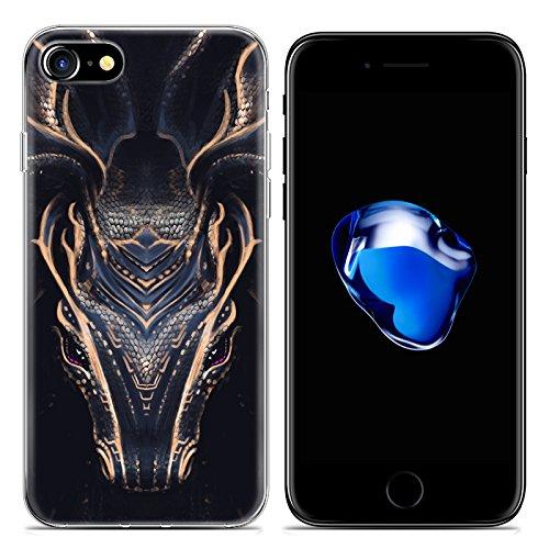 Easbuy Cartoon Tier Handy Hülle Soft Silikon Case Etui Tasche für iPhone 7 Smartphone Cover Handytasche Handyhülle Schutzhülle Mode 10