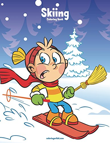 Skiing Coloring Book 1: Volume 1 por Nick Snels