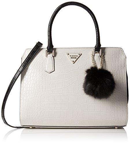 High Heel Tasche (Guess Damen Rhoda Satchel Handtaschen, Grau (Stone), One Size)