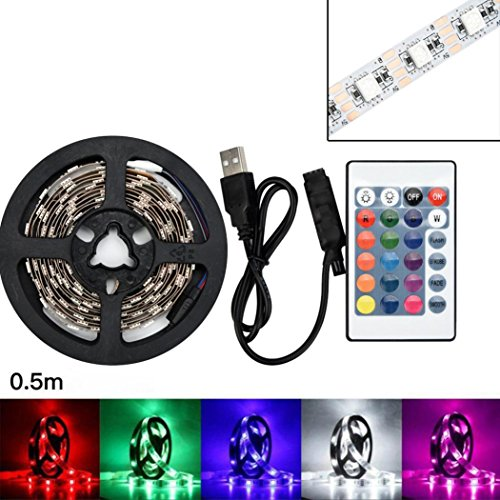 rameng Band LED 50–200cm 5050SMD RGB Band LED Leuchtstreifen Dekoration für Zuhause 50cm