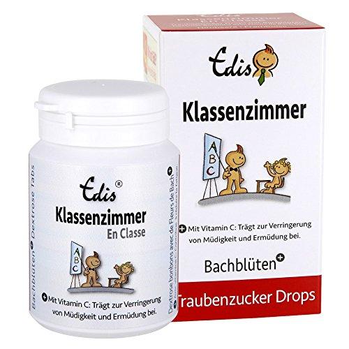 Edis Ready's Klassenzimmer Traubenzucker Tabs Nr. 03 (75g) Himbeere, Schweizer Bachblüten, in Faltschachtel