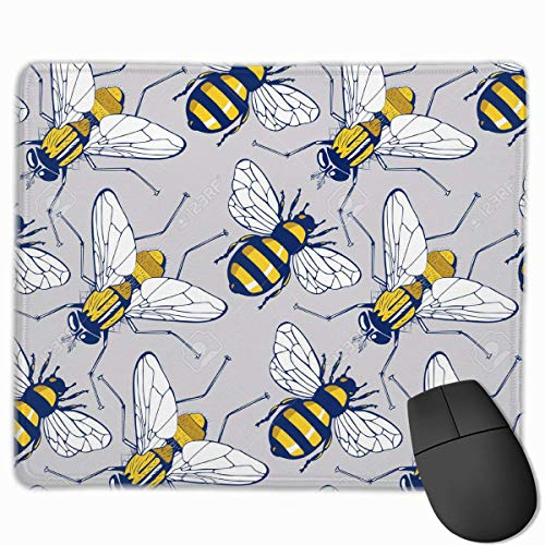 Deglogse Gaming-Mauspad-Matte, Smooth Mouse Pad Bumble Bee Pattern Mobile Gaming Mousepad Work Mouse Pad Office Pad -