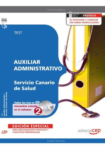Auxiliar Administrativo del Servicio Canario de Salud. Test EDICIÓN ESPECIAL (Colección 1160) por Sin datos