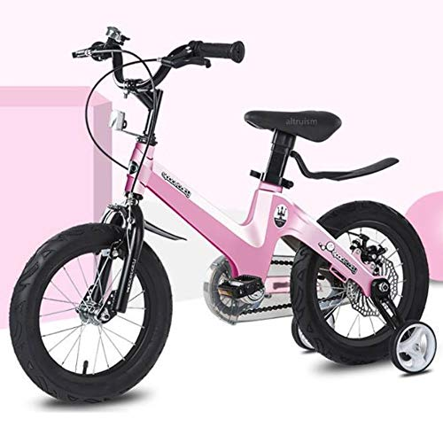 KY Kinderfahrrad 2-6 Jahre Mädchen Jungen, 12-Zoll-Kind Fahrrad Mit Stützrädern Handbremsen, 95{2adf559c9dd763b6a29dfe4ebbadb76272260db89565226f4abba52f36d0a566} Assembled (Color : Pink, Size : 12inch)