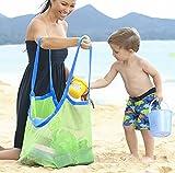 Extra Große Strand Aufbewahrung Tasche Netz Sandspiel Netztasche für Sandspielzeug,Kinder Aufbewahrungsnetz Aufbewahrung Netz Tasche für Sandspielzeug Strand