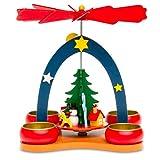 Sikora P26 Pirámide de Navidad Colorido de Madera para Lamparillas