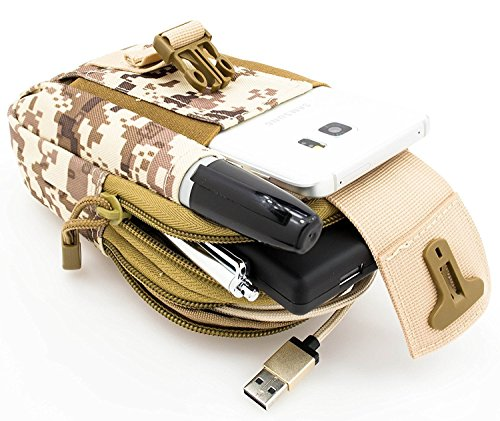 VENI MASEE Outdoor Camo Compact Multipurpose Taktische Taille Tasche Pack EDC Utility Gadget Beutel mit Telefon Holster Halter, 9 Farben Camo3