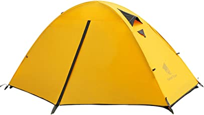 Geertop 1 Person 3-4 Season Backpacking Tent Waterproof Lightweight Outdoor Dome Camping Tent for Hiking Mountaineering Travel Family
