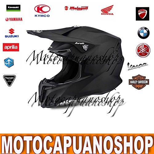 CASCO MOTO ENDURO CROSS MOTARD OFFROAD AIROH TWIST NERO OPACO TAGLIA L